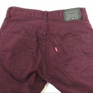 Levi's Jeans - Levi's red tab 28×28 wine colour skinny